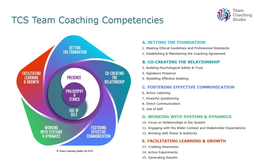 TCS Team Coaching Competencies diagram